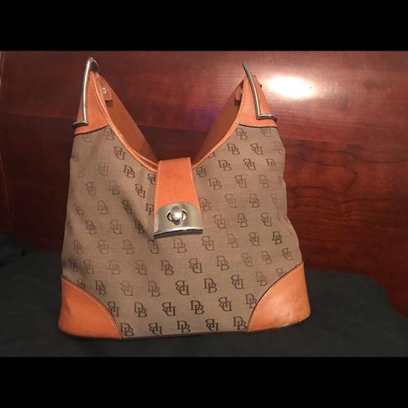 Dooney & Bourke Handbags - Authentic Dooney & Bourke Monogram Hobo HandBag